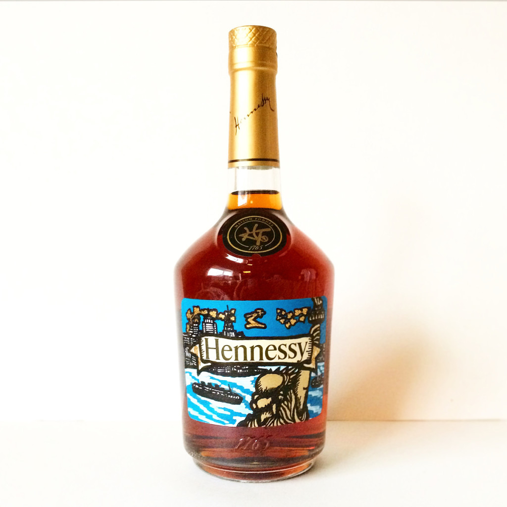 New York Hennessey Hand Painted Label